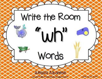 "Write the Room Literacy Center - ""WH"" words"