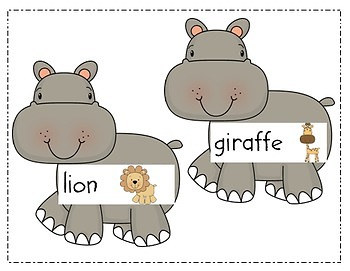 Write the Room Literacy Center - Zoo Theme