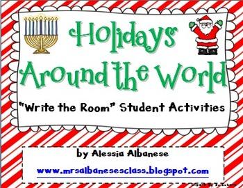 Write the Room Literacy Centre - Holidays Around the World