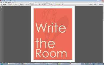 Write the Room-Literacy work station