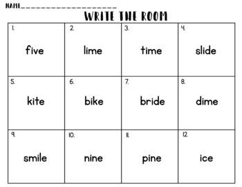 Write the Room: Long I, I_E, CVCE