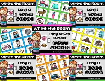 Write the Room Long Vowel Bundle (CVCE Words)