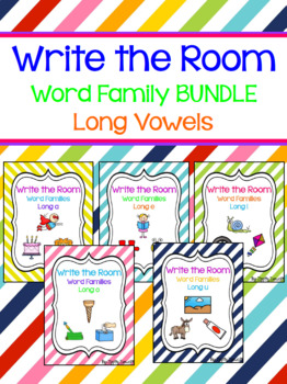 Write the Room - Long Vowel Word Family BUNDLE