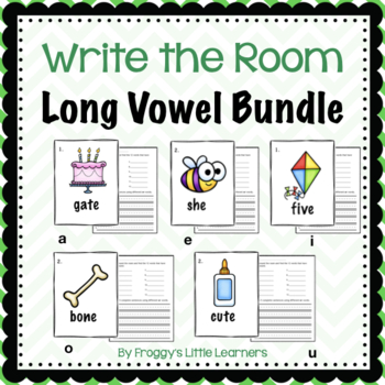 Write the Room Long Vowels Bundle #tptsupportsmallshops