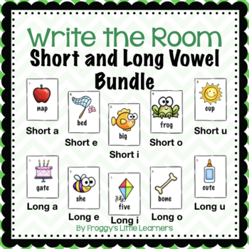 Write the Room Short and Long Vowels Bundle