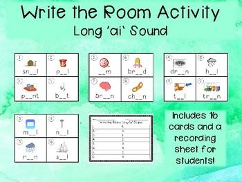 Phonics Write the Room: Long 'ai' Sound