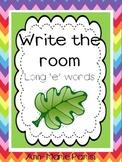 Write the Room, Long 'e' Words