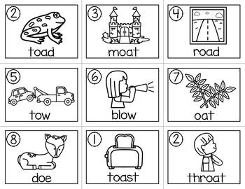 Write the Room (Long o Vowel Team Words)