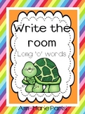 Write the Room, Long 'o' Words