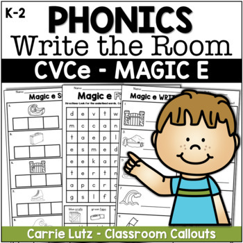 """WRITE THE ROOM - Magic """"e"""" - Includes Other Activities"""
