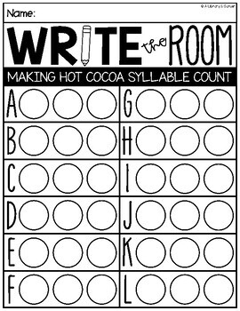 Write the Room: Making Hot Cocoa Edition (K-2)