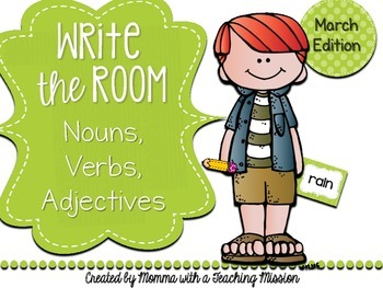 Write the Room : March Edition Nouns, Verbs, Adjectives