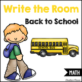 Write the Room - Math - Back To School
