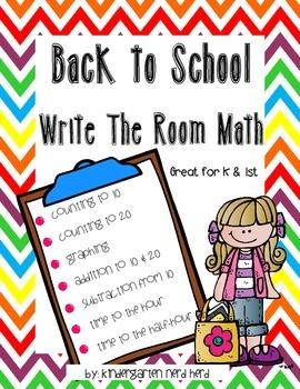 Write the Room Math: Beginning of Year