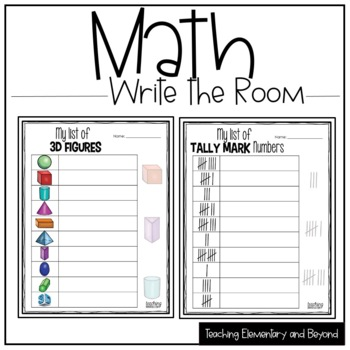 Early Math Concepts Write the Room