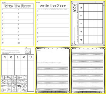 Write the Room - Missing Vowels BUNDLE
