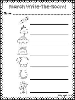 Write-the-Room {Monthly} - Fun Vocabulary Activities for the year!