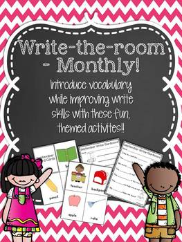 Write-the-Room {Monthly} - Fun Vocabulary Activities for t