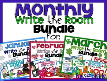 Write the Room {Months 1-3} Bundle