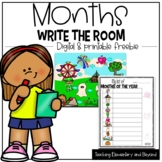 Write the Room: Months of the Year - Digital and Printable