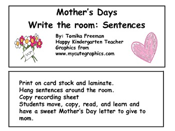 Write the Room: Mothers Day