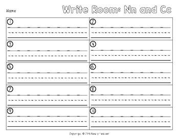 Write the Room - Nn and Cc
