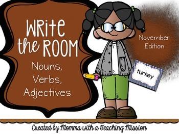 Write the Room : November Edition Nouns, Verbs, Adjectives