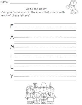 November Writing Activities / November Write the Room / Thanksgiving Activities