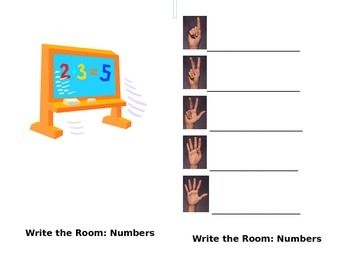 Write the Room - Number Words 1-5