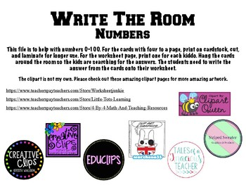 Write the Room- Numbers 0-100
