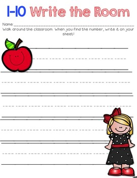 Write the Room Numbers 1-50 & Matching Too!