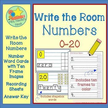 Write the Room Number Words Zero to Twenty