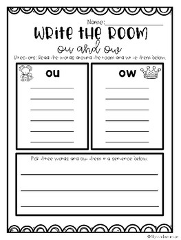 Write the Room- OU AND OW