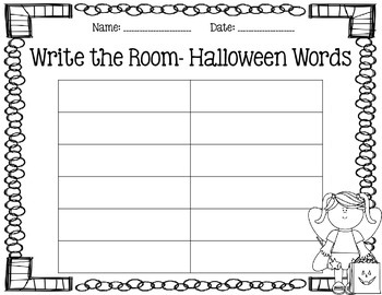 Write the Room- October