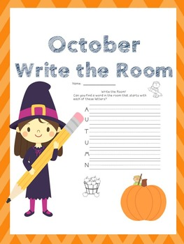 October Writing Activities / October Write the Room