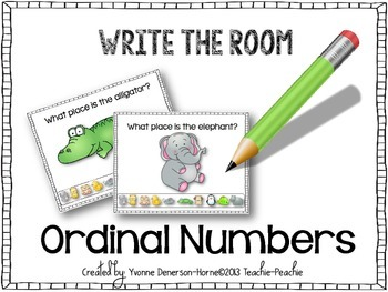 FREEBIE:Write the Room:Ordinal Numbers(First-Tenth)