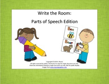 Write the Room: Parts of Speech Edition