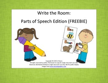Write the Room: Parts of Speech Edition {FREEBIE}