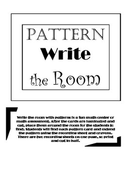 Write the Room- Patterns