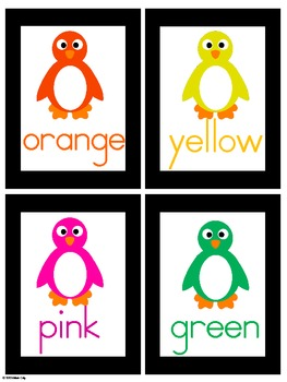Write the Room -- Penguin Colors English