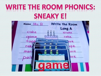 Write the Room Phonics Edition-Sneaky E!