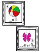 Write the Room Picture & Word Cards for letters Aa through Gg