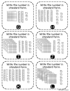 Write the Room Place Value to 1,000