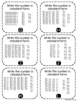 Write the Room Place Value to 120