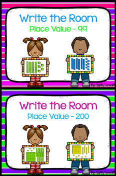 Write the Room - Place Value to 99 & 200 BUNDLE