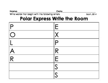 Write the Room Polar Express