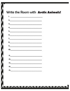 Write the Room: Popular Arctic Animals