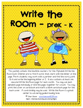 Write the Room - PreK-K Version