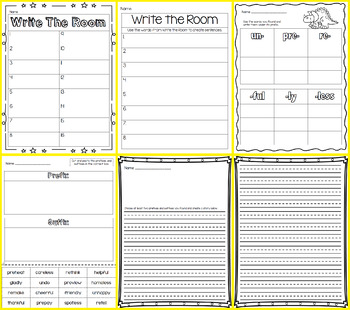Write the Room - Prefix & Suffix Mixed