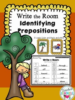 Prepositions Write the Room
